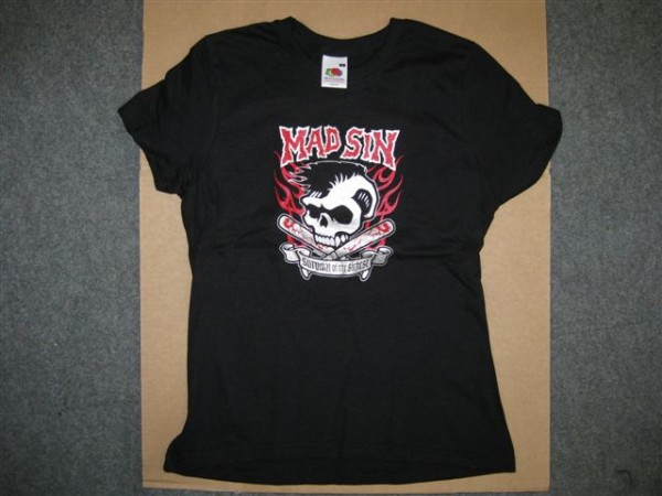 MAD SIN-Survival Of The Sickest Girlie T-Shirt S