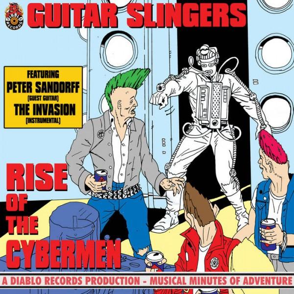 """GUITAR SLINGERS - Rise Of The Cybermen 7""""EP ltd. white"""