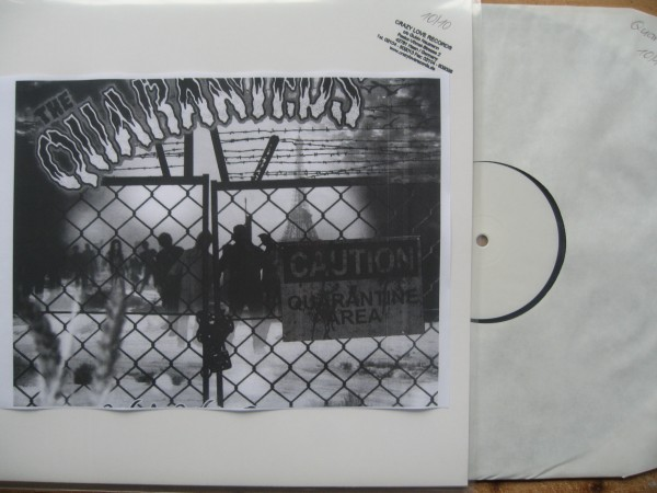 QUARANTEDS - World Wide Quarantine LP test pressing
