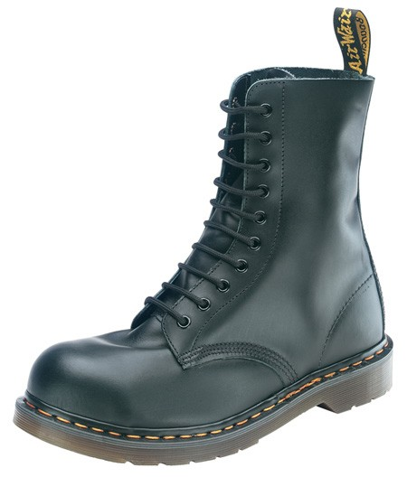 10 Eye Boot Black Gr. 39