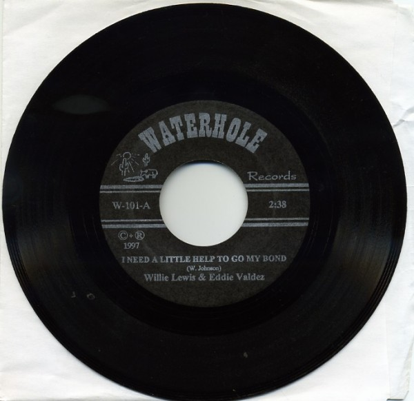 "LEWIS, WILLIE & VALDEZ, EDDIE 7"" black vinyl"
