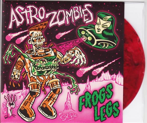 "ASTRO ZOMBIES - Frogs Legs 7""EP red vinyl"