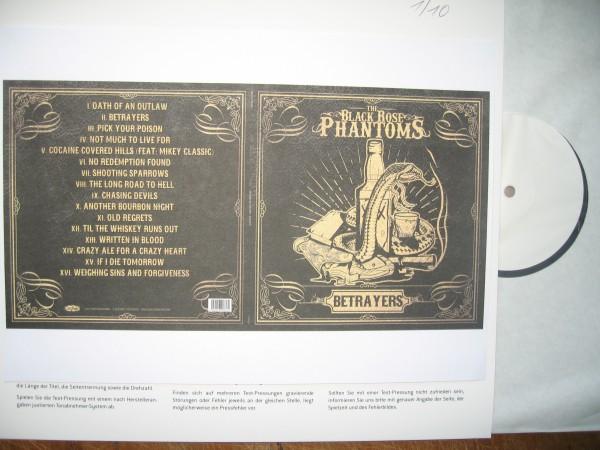 BLACK ROSE PHANTOMS - Betrayers LP test pressing