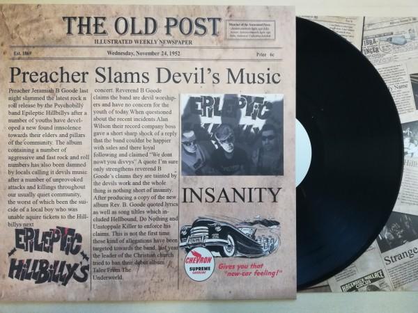 EPILEPTIC HILLBILLYS - Insanity LP white label ltd.