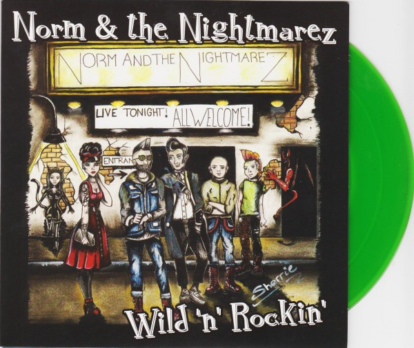 "NORM & THE NIGHTMAREZ - Wild 'n' Rockin' 7""EP"