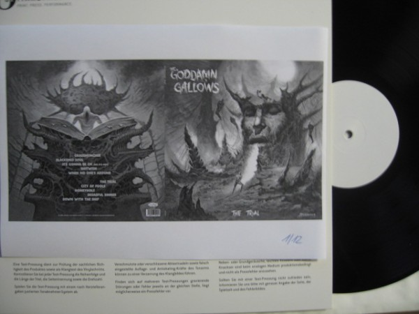 GODDAMN GALLOWS - The Trial LP white label ltd.