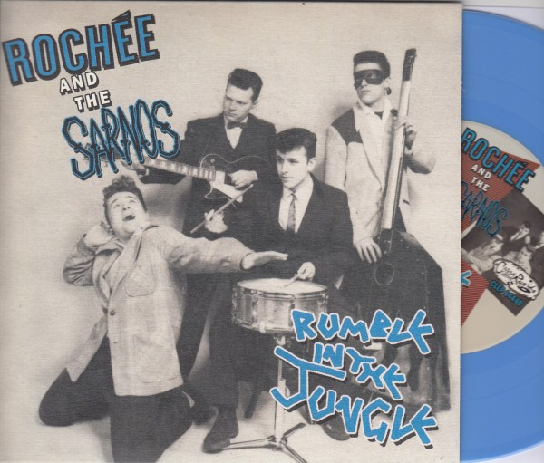 """ROCHEE AND THE SARNOS - Rumble In The Jungle 7""""EP light blue ltd."""
