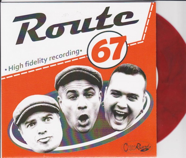 """ROUTE 67 - Long Lonesome Highway 7"""" ltd. RED"""