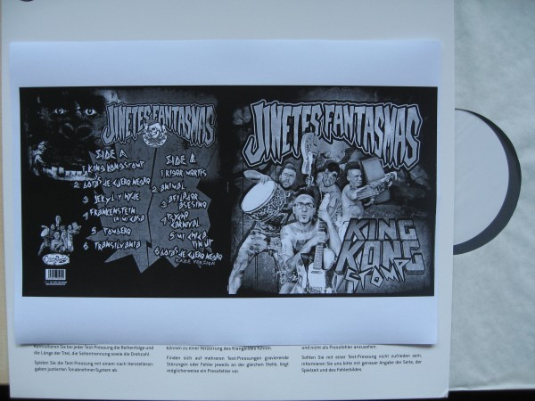 JINETES FANTASMAS - King Kong Stomp LP test pressing ltd.