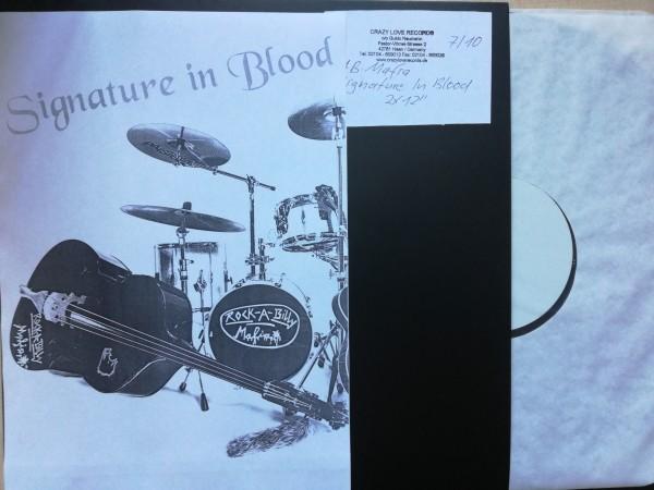 "ROCKABILLY MAFIA - Signature In Blood 2 x 12""LP white label"