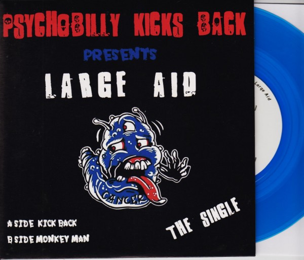 """PSYCHOBILLY KICKS BACK 7"""" ltd. blue"""
