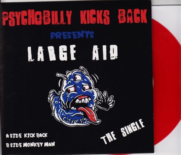 """PSYCHOBILLY KICKS BACK 7"""" ltd. red"""