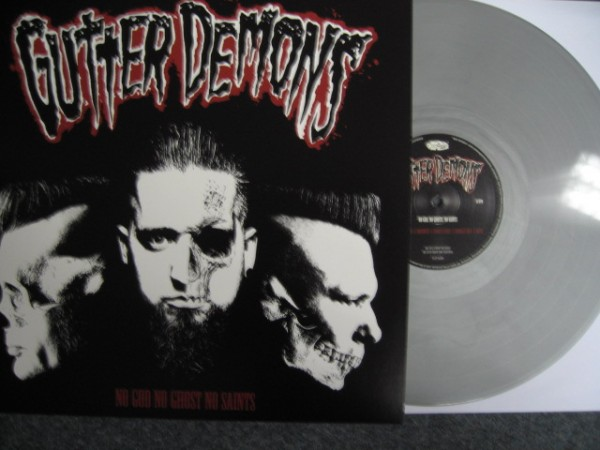 GUTTER DEMONS - No God No Ghost No Saints LP silver ltd.