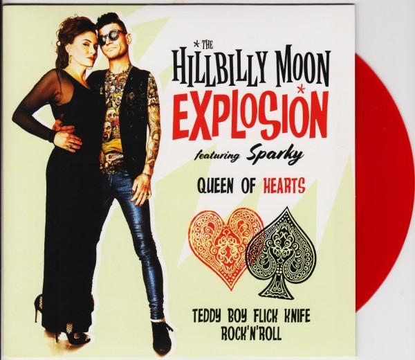 "HILLBILLY MOON EXPLOSION - Queen Of Hearts 7"" ltd.col."