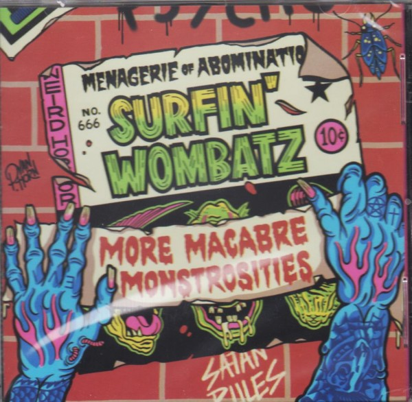 SURFIN' WOMBATZ - More Macabre Monstrosities CD
