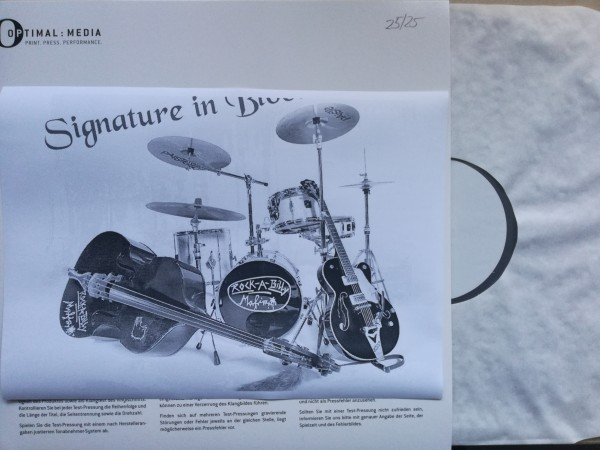 "ROCKABILLY MAFIA - Signature In Blood 12""LP white label"
