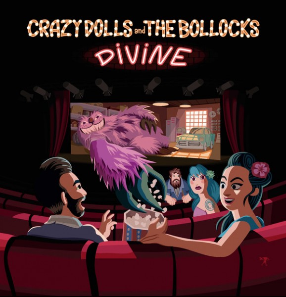 "CRAZY DOLLS AND THE BOLLOCKS - Divine 7""EP"
