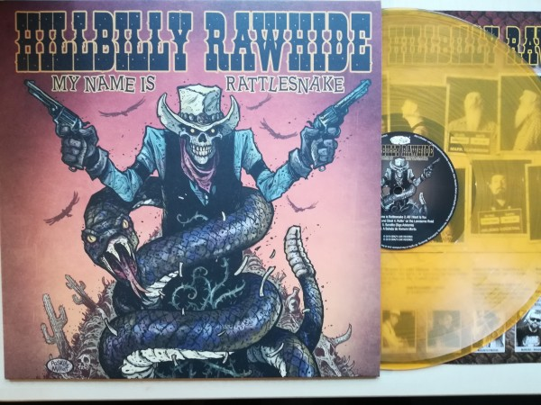 HILLBILLY RAWHIDE - My Name Is Rattlesnake LP orange ltd.