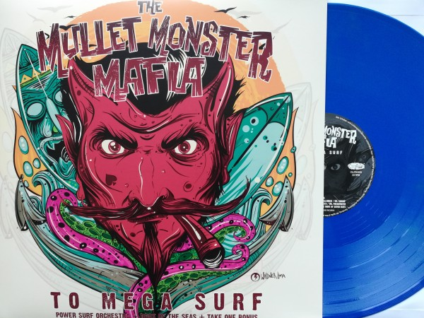 MULLET MONSTER MAFIA - To Mega Surf LP blue vinyl