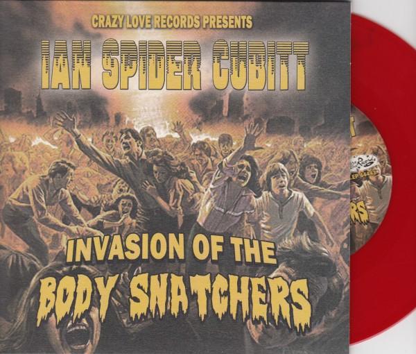 "IAN SPIDER CUBITT - Invasion Of The Body Snatchers 7""EP red ltd."