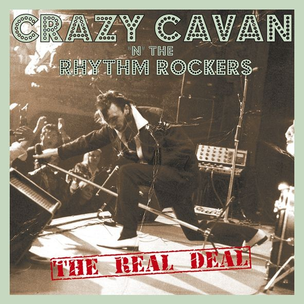 CRAZY CAVAN 'N' THE RHYTHM ROCKERS - The Real Deal LP ltd. BLUE