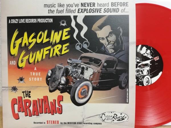 CARAVANS - Gasoline And Gunfire LP ltd. red