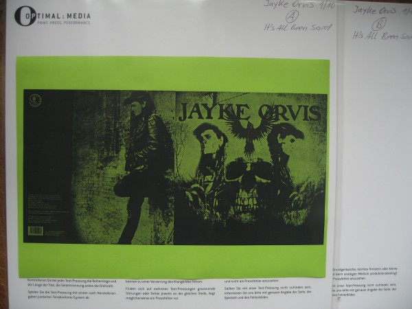 JAYKE ORVIS - It's All Been Said 2 x LP test pressing ltd.