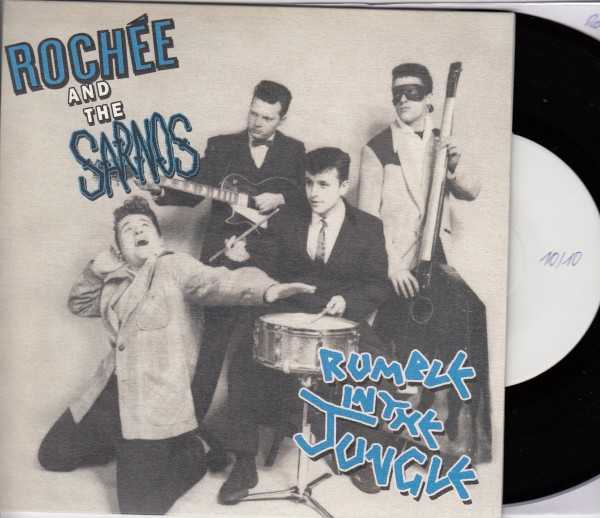 """ROCHEE AND THE SARNOS - Rumble In The Jungle 7""""EP test pressing ltd."""