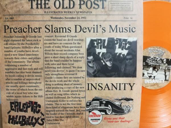 EPILEPTIC HILLBILLYS - Insanity LP orange ltd.