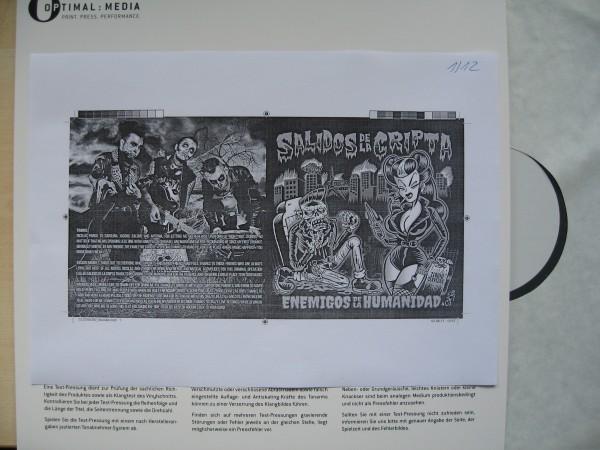 SALIDOS DE LA CRIPTA - Enemigos De La Humanida LP test pressing