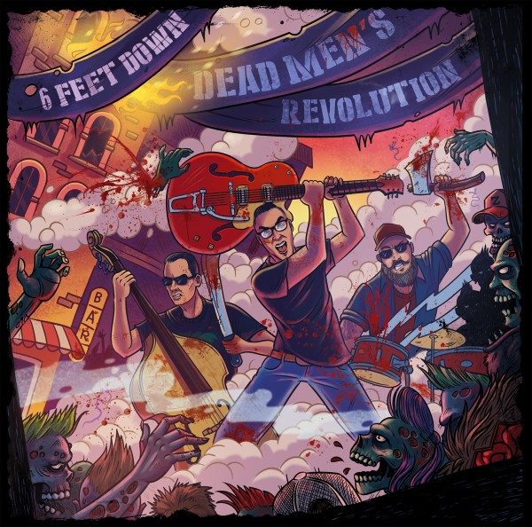 "6 FEET DOWN - Dead Men's Revolution 12""LP ltd."