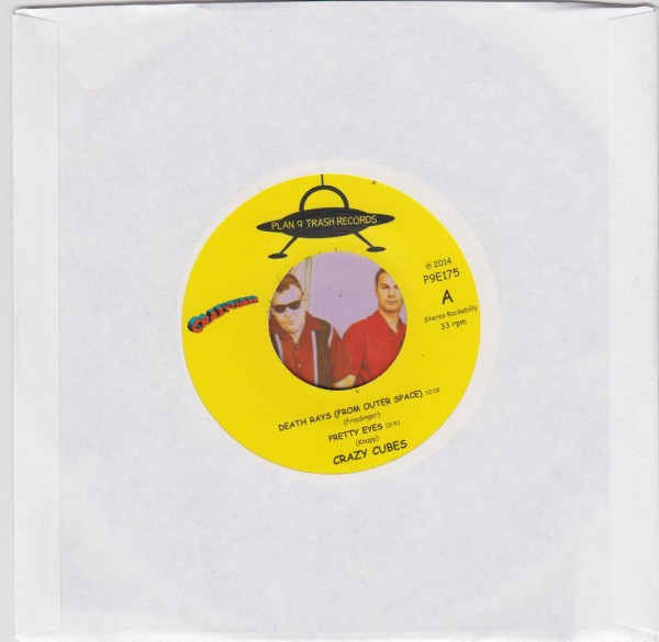 """CRAZY CUBES - Death Rays (From Outer Space) 7""""EP"""