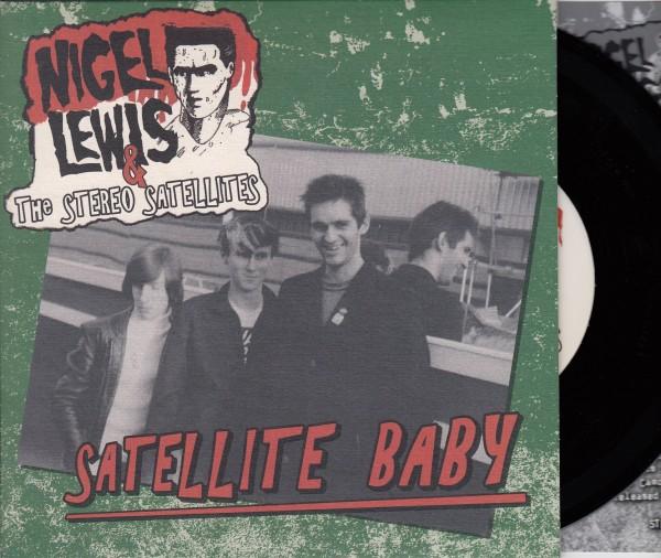 "NIGEL LEWIS & THE STEREO SATELLITES - Satellite Baby 7""EP ltd. black"