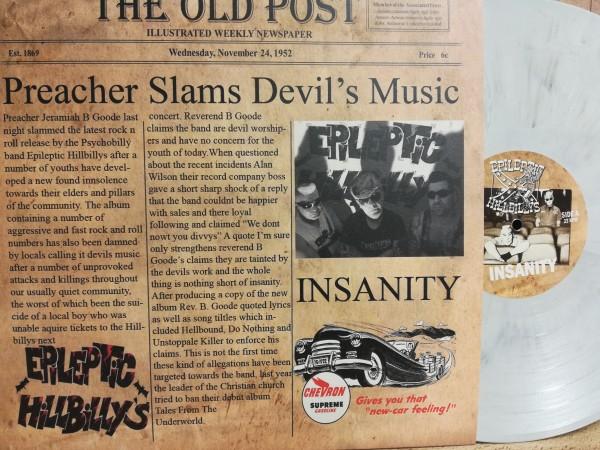 EPILEPTIC HILLBILLYS - Insanity LP white/black ltd.