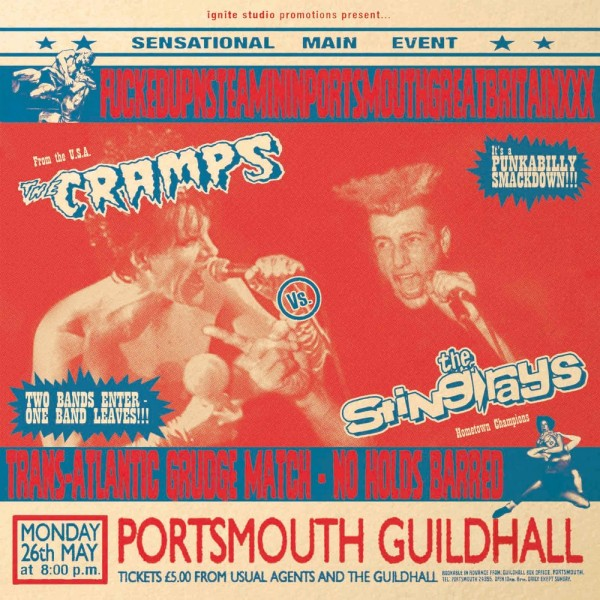 CRAMPS Vs STING RAYS - Fuckedupnsteamininportsmouth...LP