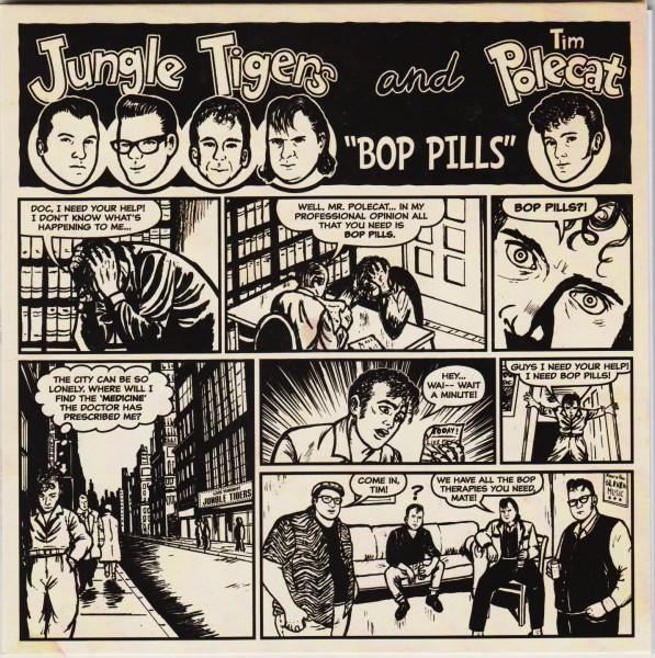 "JUNGLE TIGERS & TIM POLECAT - Bop Pills 7""EP"