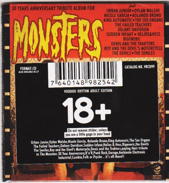 V.A. - 30 Years Anniversary Tribute Album For The Monsters CD
