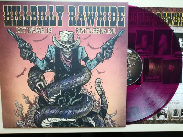 HILLBILLY RAWHIDE - My Name Is Rattlesnake LP violet ltd.