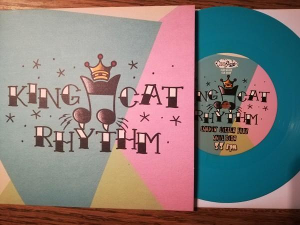 """KING CAT RHYTHM - Same 7""""EP ltd. turqoise"""