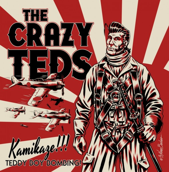"CRAZY TEDS - Kamikaze!!! Teddy Boy Bombing! 7""EP"
