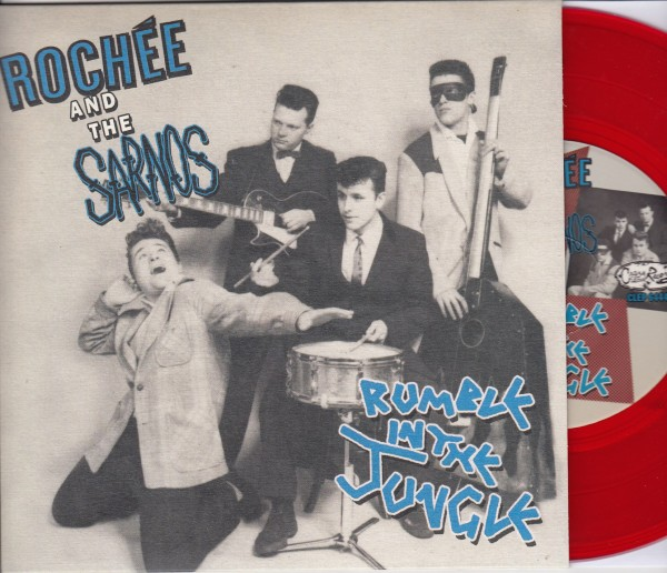 """ROCHEE AND THE SARNOS - Rumble In The Jungle 7""""EP red ltd."""