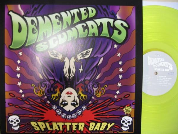 DEMENTED SCUMCATS - Splatter Baby LP NEON YELLOW ltd.