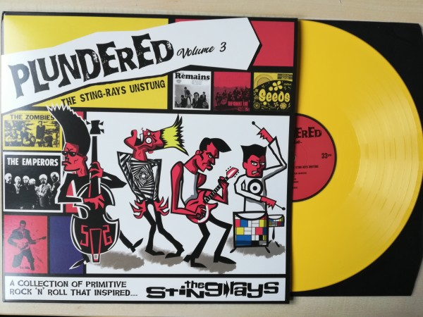 V.A. - Plundered Vol 3. The Sting Rays Unstung LP yellow